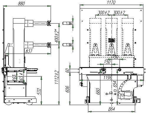 ZN85真空断路器安装尺寸